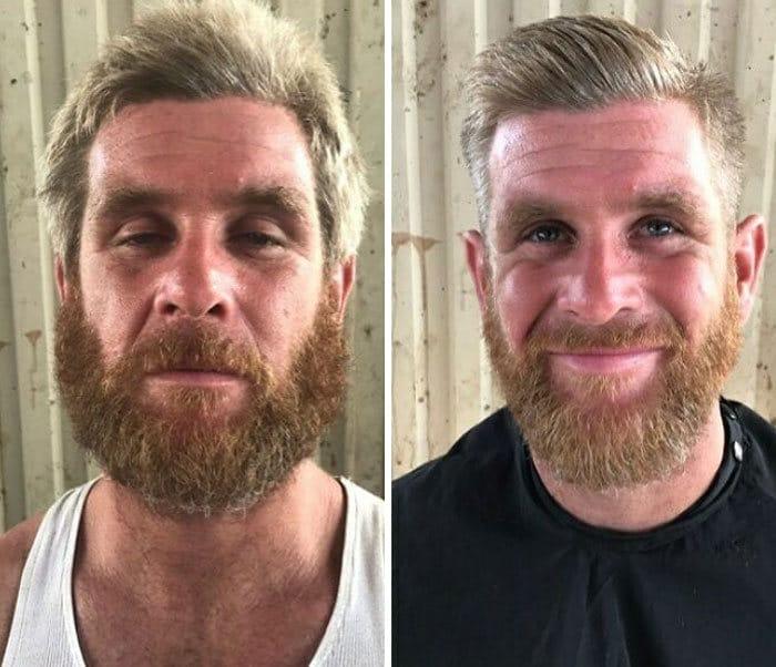 Barbeiro transforma pessoas sem-teto de graça e essas 30 fotos de antes e depois 17