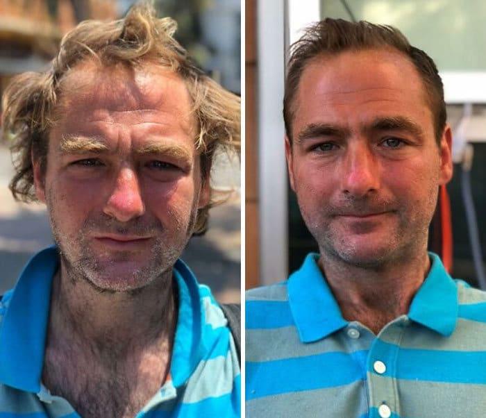 Barbeiro transforma pessoas sem-teto de graça e essas 30 fotos de antes e depois 18