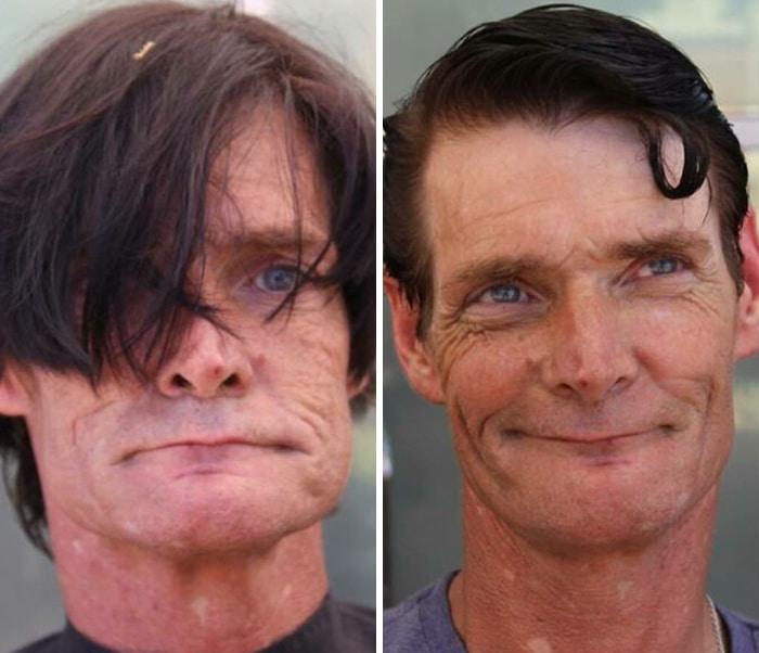 Barbeiro transforma pessoas sem-teto de graça e essas 30 fotos de antes e depois 20