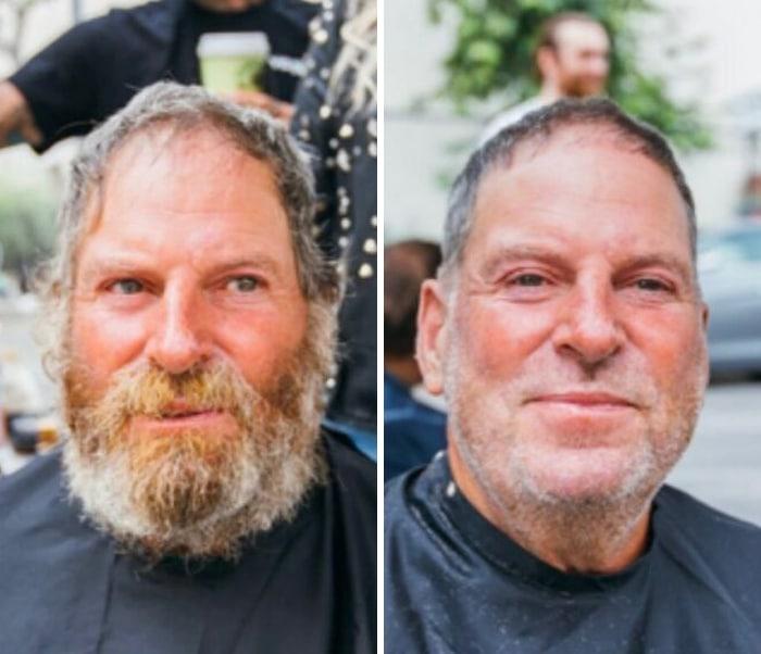 Barbeiro transforma pessoas sem-teto de graça e essas 30 fotos de antes e depois 21
