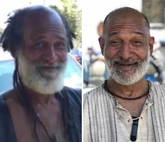 Barbeiro transforma pessoas sem-teto de graça e essas 30 fotos de antes e depois 22
