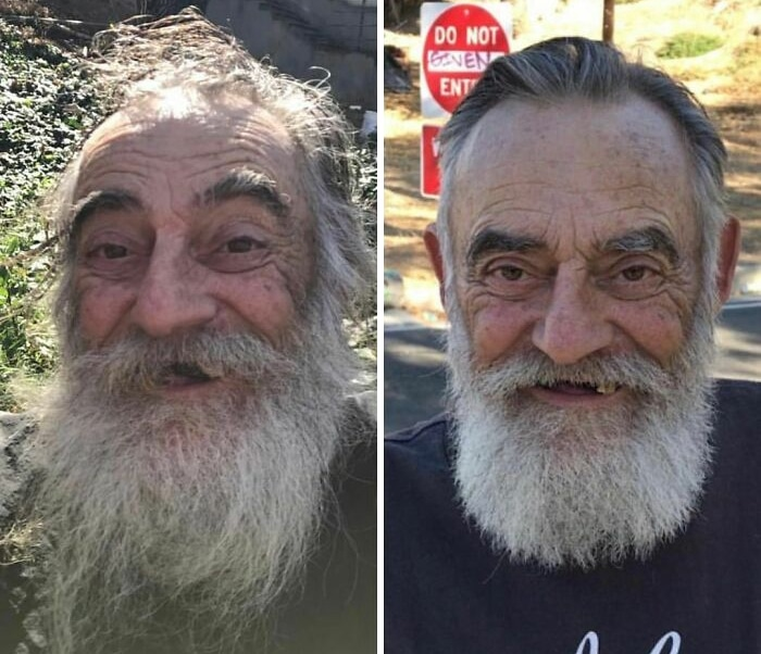 Barbeiro transforma pessoas sem-teto de graça e essas 30 fotos de antes e depois 23
