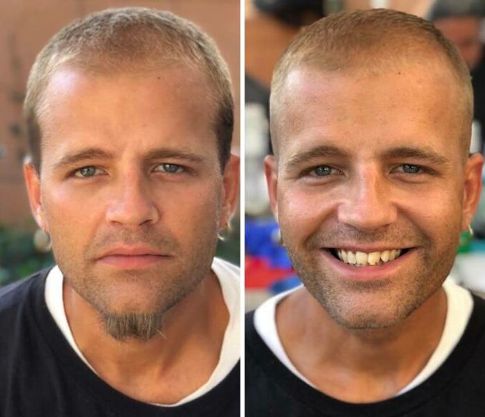 Barbeiro transforma pessoas sem-teto de graça e essas 30 fotos de antes e depois 24