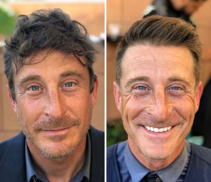 Barbeiro transforma pessoas sem-teto de graça e essas 30 fotos de antes e depois 25