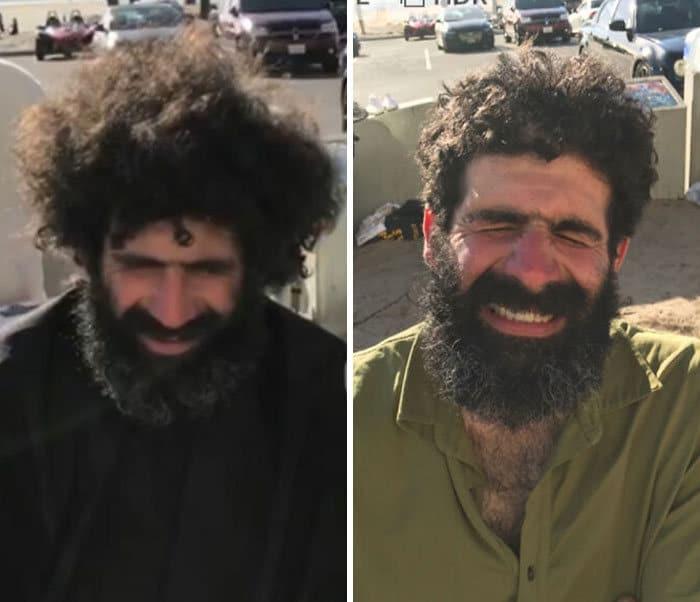 Barbeiro transforma pessoas sem-teto de graça e essas 30 fotos de antes e depois 27