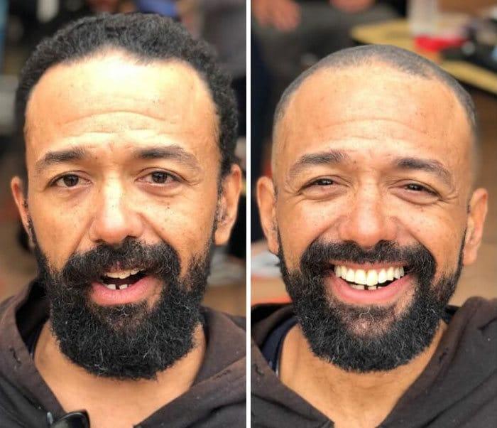 Barbeiro transforma pessoas sem-teto de graça e essas 30 fotos de antes e depois 29