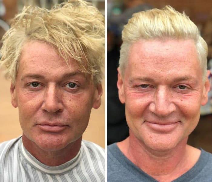 Barbeiro transforma pessoas sem-teto de graça e essas 30 fotos de antes e depois 30