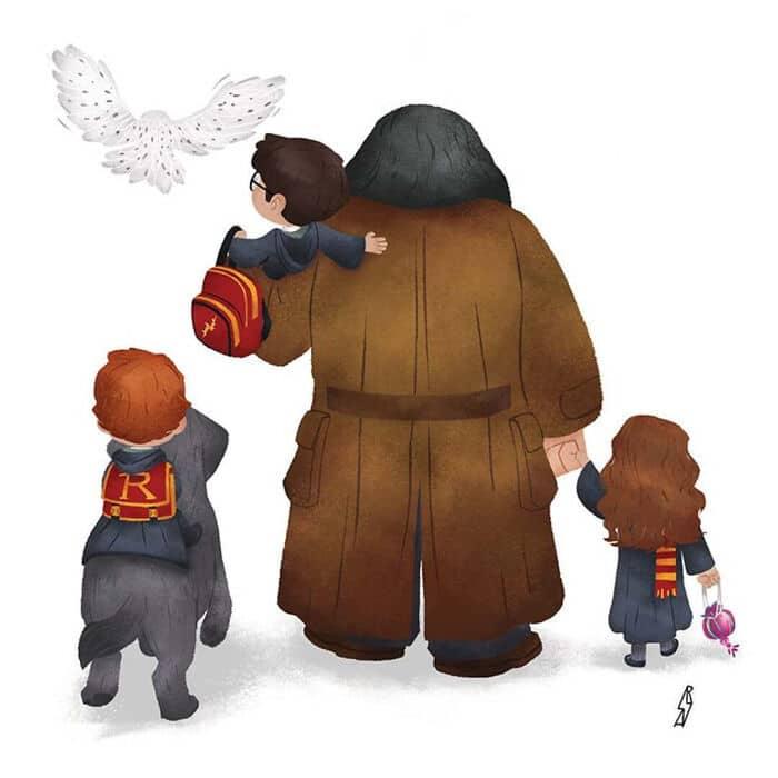 Este ilustrador desenha personagens da cultura pop como famílias 2