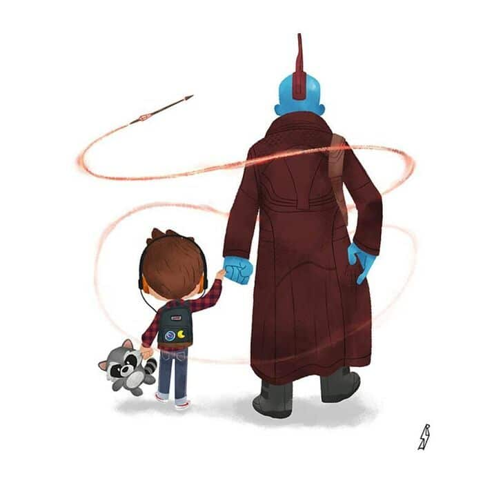 Este ilustrador desenha personagens da cultura pop como famílias 10