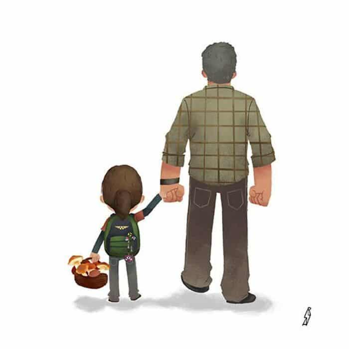 Este ilustrador desenha personagens da cultura pop como famílias 11