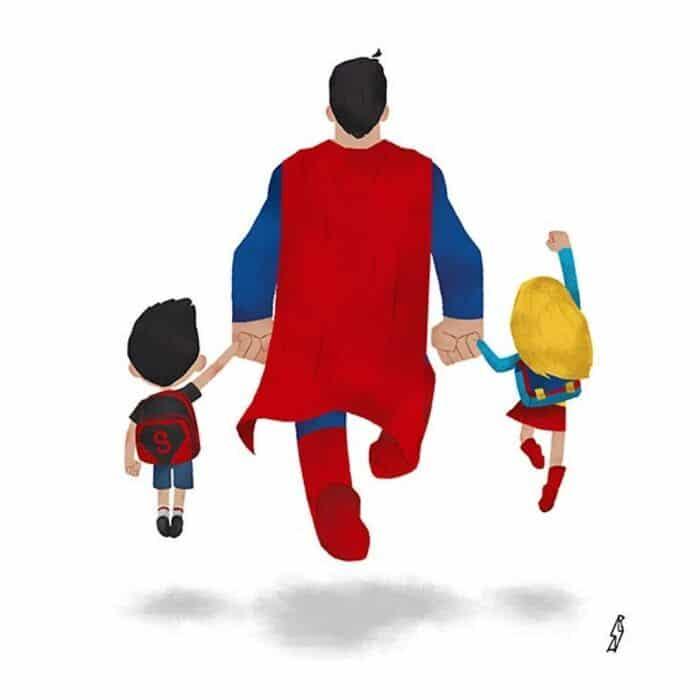 Este ilustrador desenha personagens da cultura pop como famílias 13