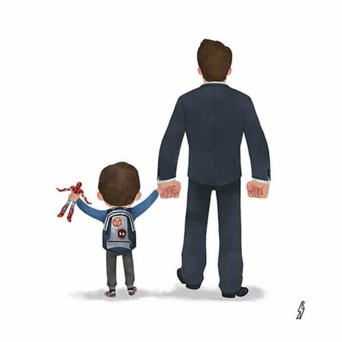 Este ilustrador desenha personagens da cultura pop como famílias 14