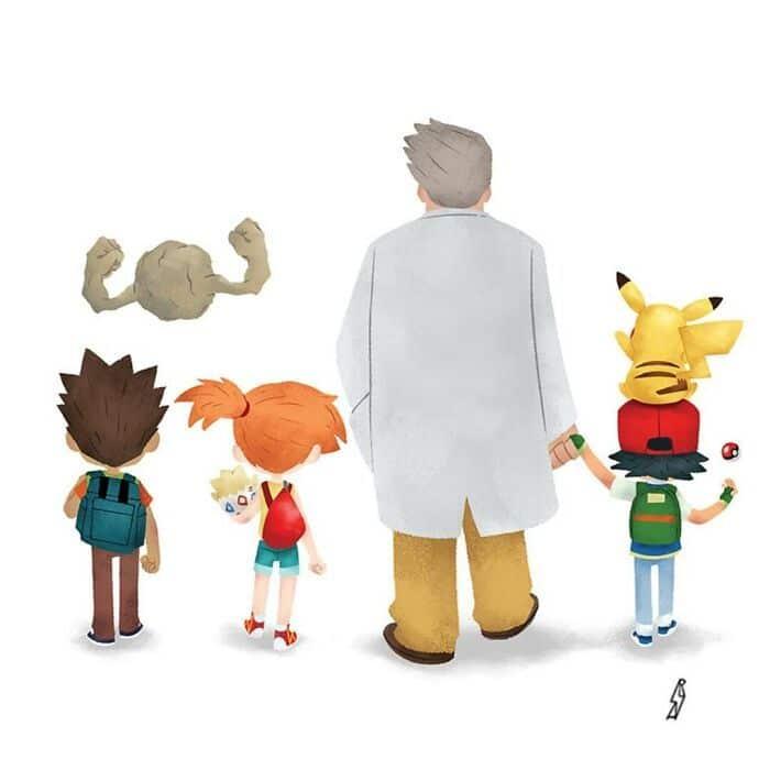 Este ilustrador desenha personagens da cultura pop como famílias 17