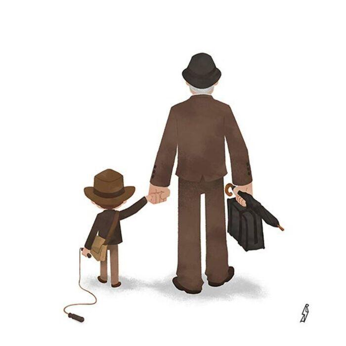Este ilustrador desenha personagens da cultura pop como famílias 23