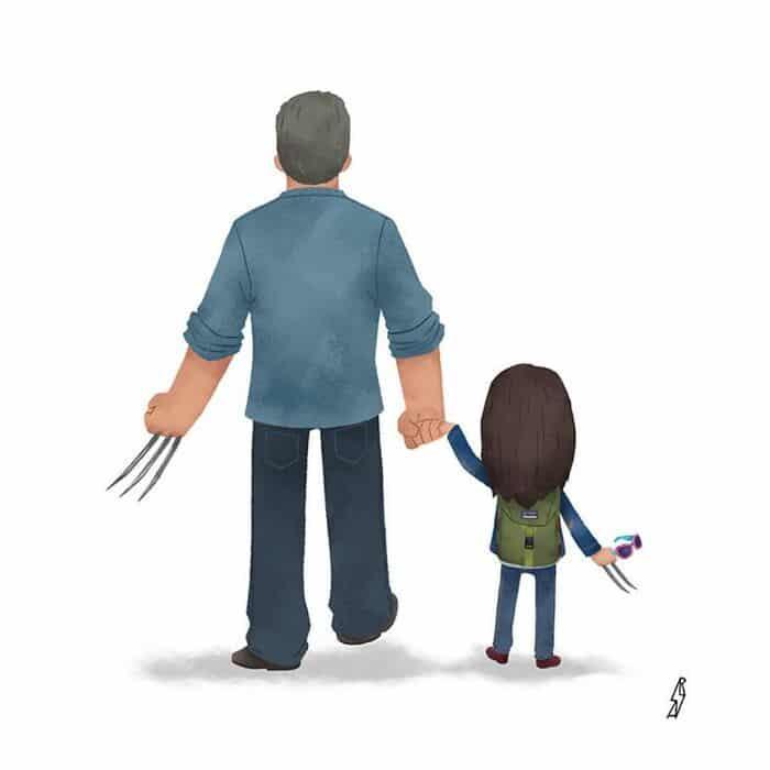 Este ilustrador desenha personagens da cultura pop como famílias 26