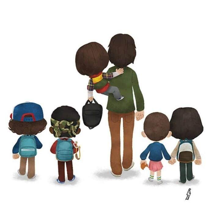 Este ilustrador desenha personagens da cultura pop como famílias 27