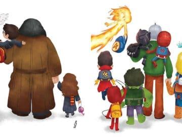 Este ilustrador desenha personagens da cultura pop como famílias 53