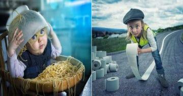 Fotógrafo cria manipulações extraordinárias com a sua própria família 13