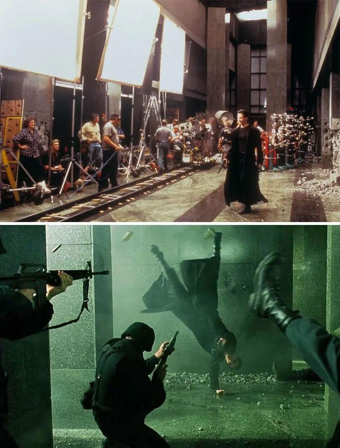 38 fotos de bastidores que mostram o outro lado de filmes famosos 14