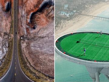 36 fotos de drones surreal que vão te dar frio na barriga 4