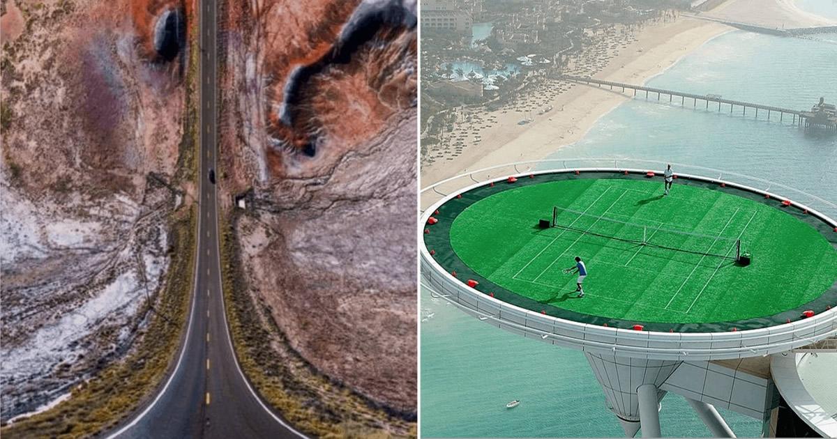 36 fotos de drones surreal que vão te dar frio na barriga 44