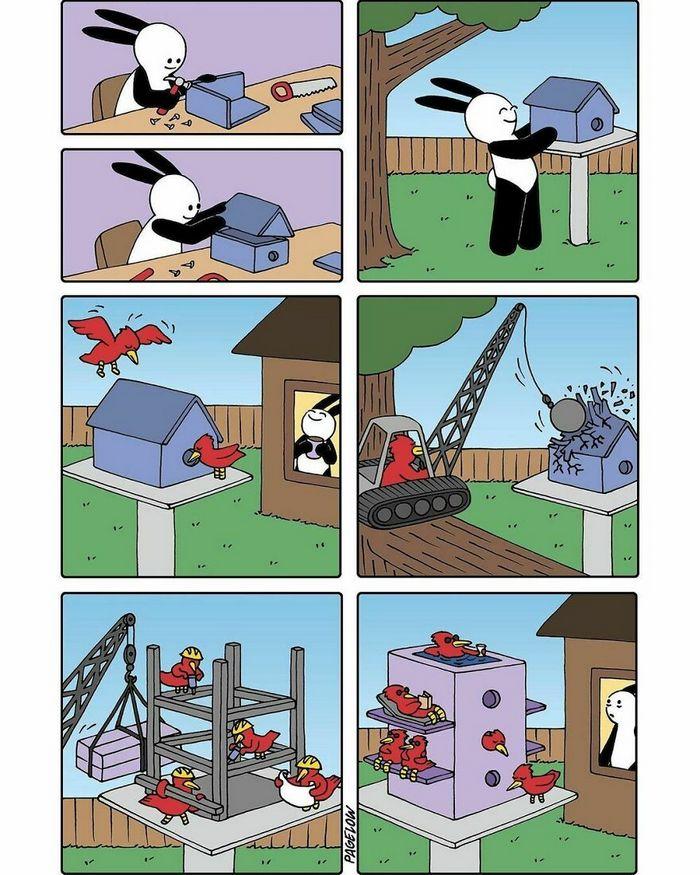 36 quadrinhos fofos com finais não tão fofos 5