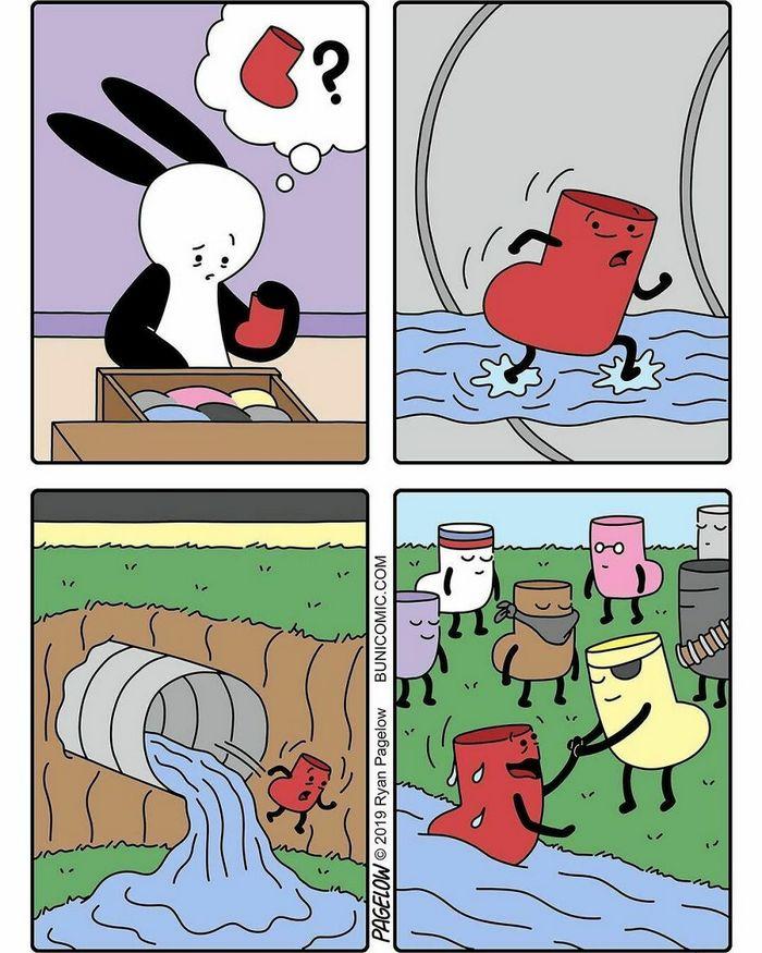 36 quadrinhos fofos com finais não tão fofos 23