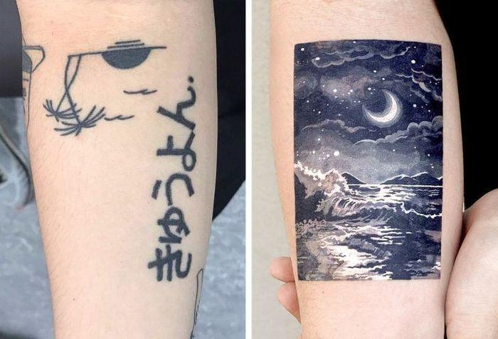 Um artista transforma tatuagens em cenas de outro mundo 7