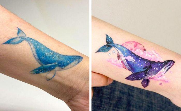 Um artista transforma tatuagens em cenas de outro mundo 8