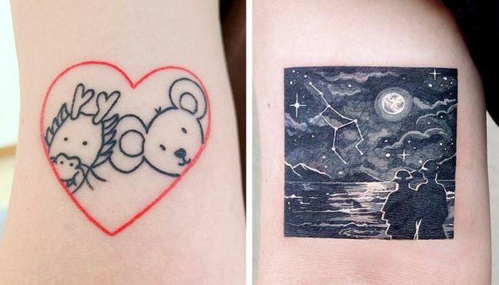 Um artista transforma tatuagens em cenas de outro mundo 9