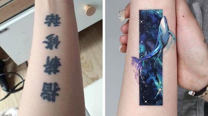Um artista transforma tatuagens em cenas de outro mundo 10