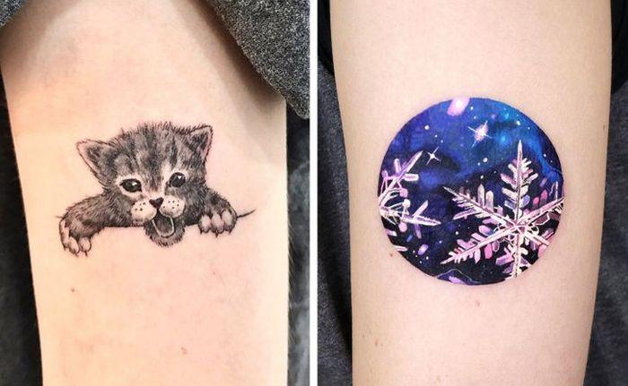 Um artista transforma tatuagens em cenas de outro mundo 11