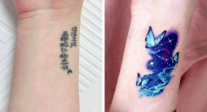 Um artista transforma tatuagens em cenas de outro mundo 12