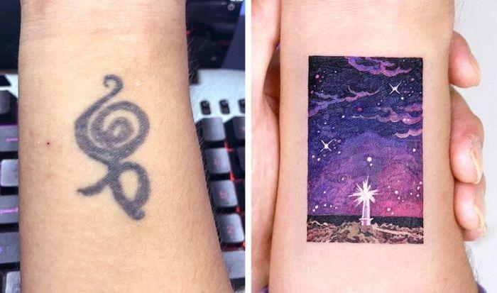 Um artista transforma tatuagens em cenas de outro mundo 13