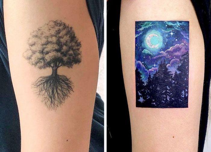 Um artista transforma tatuagens em cenas de outro mundo 14
