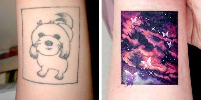 Um artista transforma tatuagens em cenas de outro mundo 15