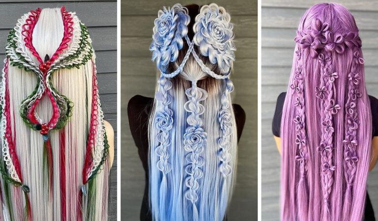 Um cabeleireiro cria penteados incríveis que se tornam virais em um piscar de olhos 146