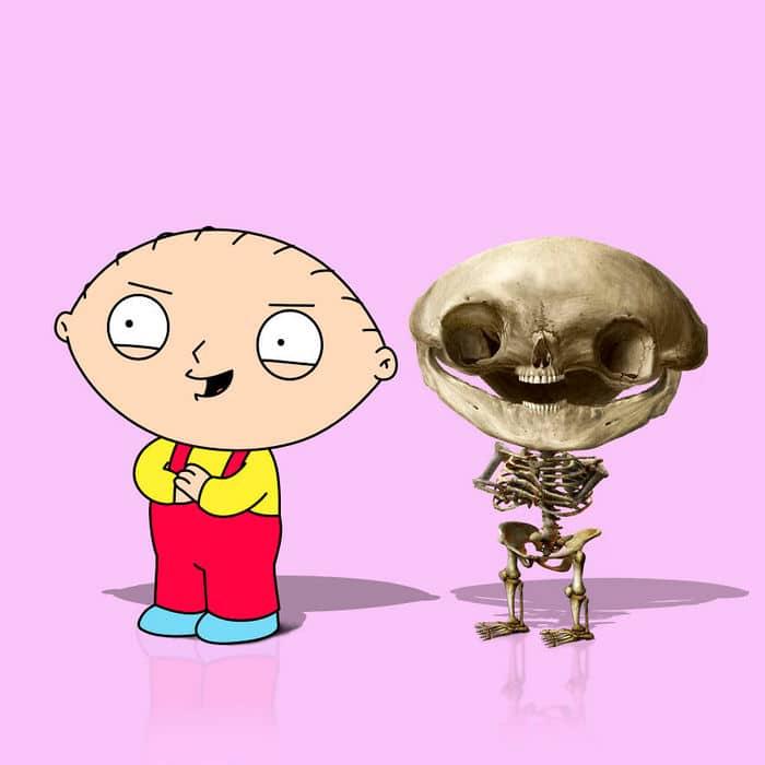 Como seriam os esqueletos de personagens de desenho animados, e isso pode te assustar 4