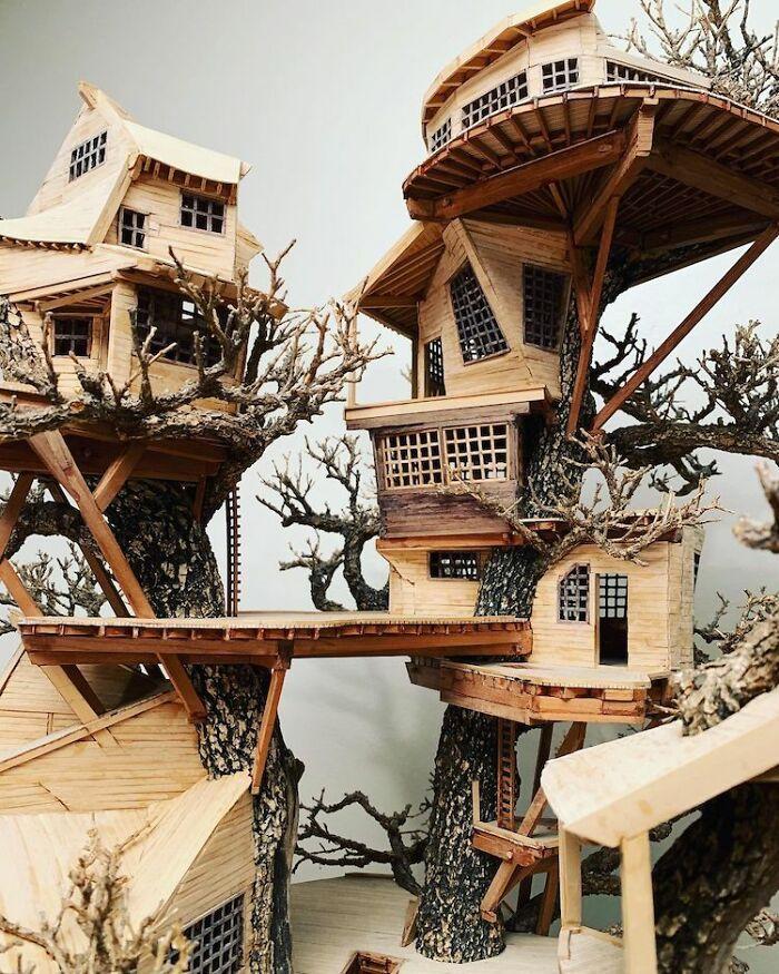 24 fantásticas casas na árvore de bonsai 4
