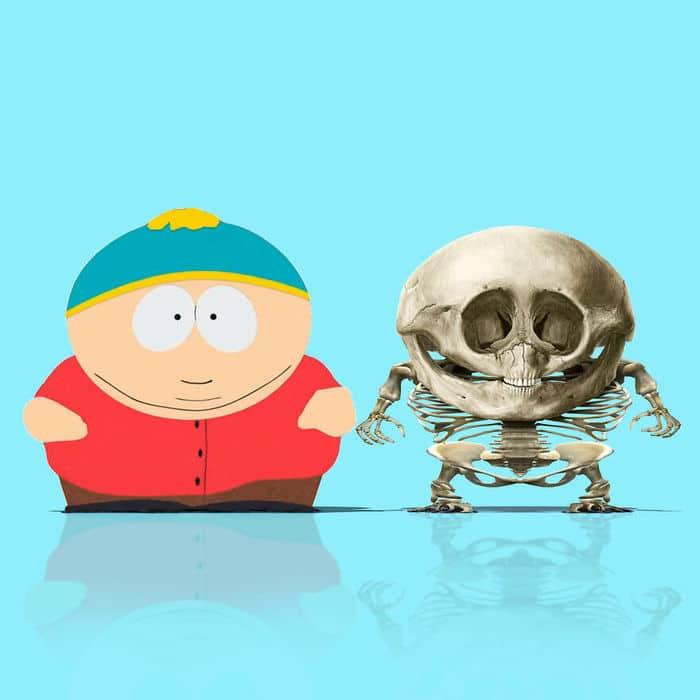 Como seriam os esqueletos de personagens de desenho animados, e isso pode te assustar 5