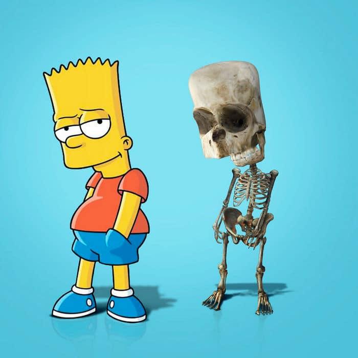 Como seriam os esqueletos de personagens de desenho animados, e isso pode te assustar 6