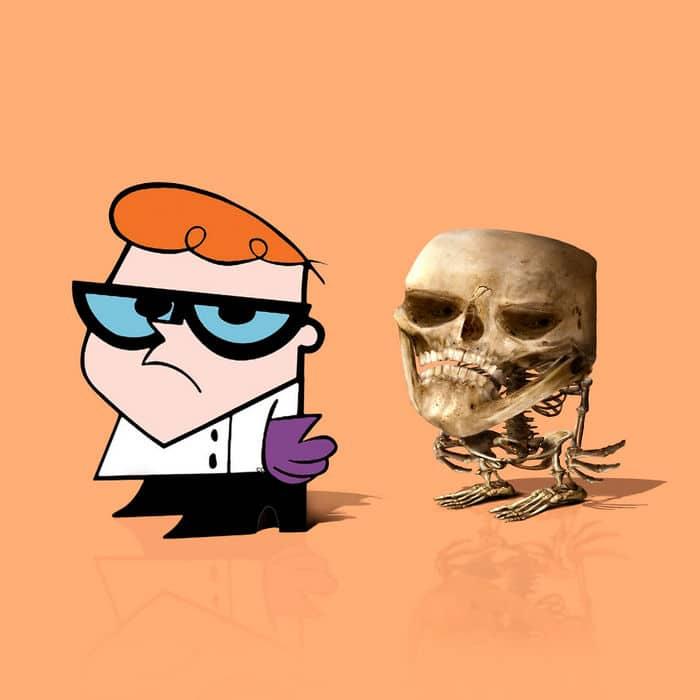 Como seriam os esqueletos de personagens de desenho animados, e isso pode te assustar 7