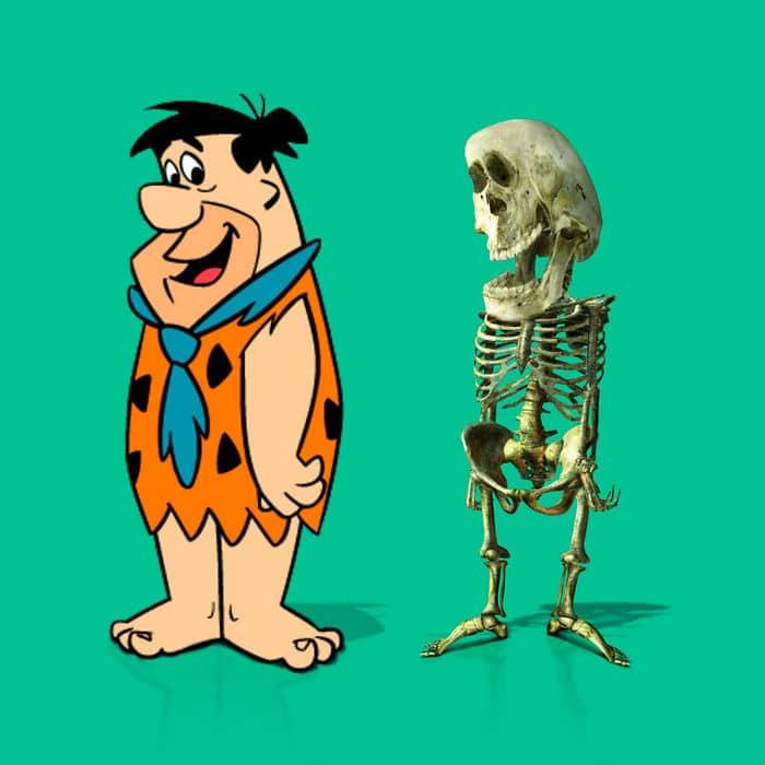 Como seriam os esqueletos de personagens de desenho animados, e isso pode te assustar 8