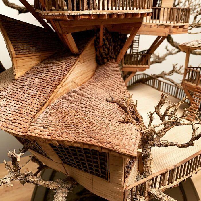 24 fantásticas casas na árvore de bonsai 10