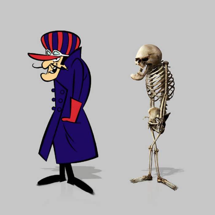Como seriam os esqueletos de personagens de desenho animados, e isso pode te assustar 11