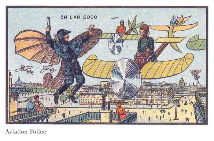 24 Ilustrações legais de artistas do passado que tentaram prever o futuro 12