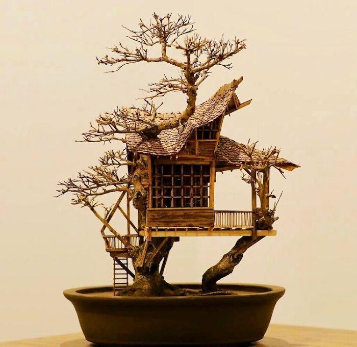 24 fantásticas casas na árvore de bonsai 14