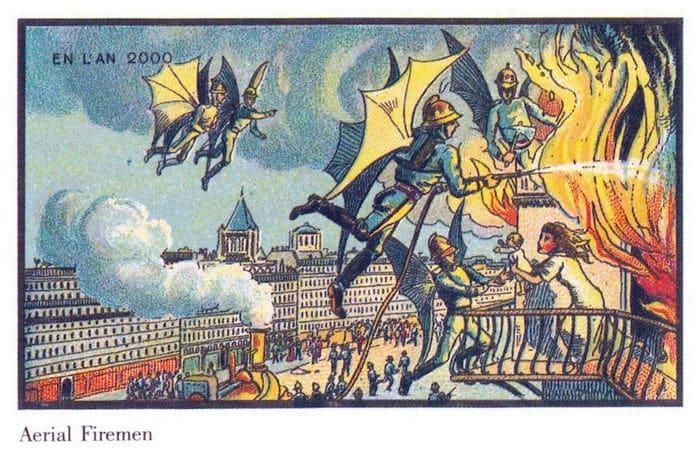24 Ilustrações legais de artistas do passado que tentaram prever o futuro 15