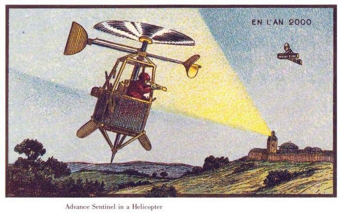 24 Ilustrações legais de artistas do passado que tentaram prever o futuro 20