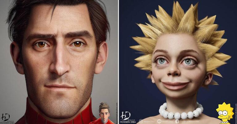 Artista adicionar toques realistas em 31 personagens da cultura pop 1